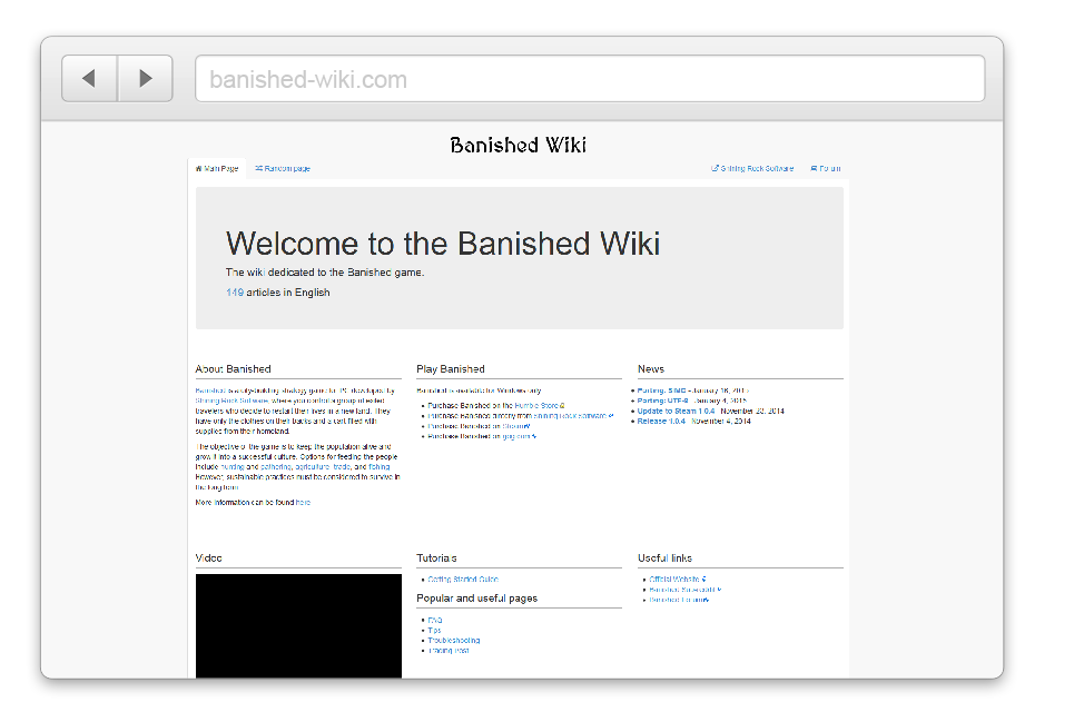 Banished Wiki Screenshot